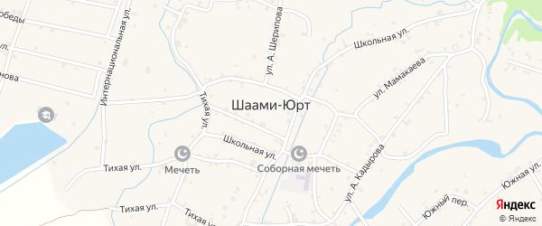 Улица А.Айдамирова на карте села Шаами-Юрт с номерами домов