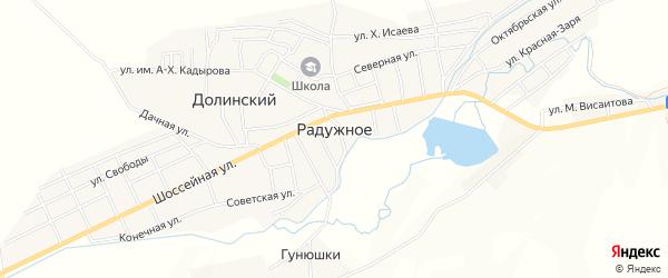 Карта Радужного села в Чечне с улицами и номерами домов