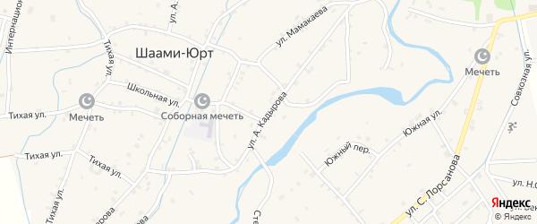 Улица А.Кадырова на карте села Шаами-Юрт с номерами домов