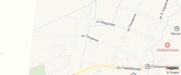 Улица Гагарина на карте села Валерика с номерами домов