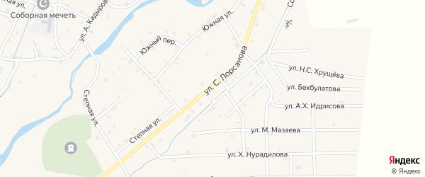 Улица С.Лорсанова на карте села Шаами-Юрт с номерами домов