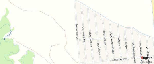 Восточная улица на карте села Закан-Юрт с номерами домов