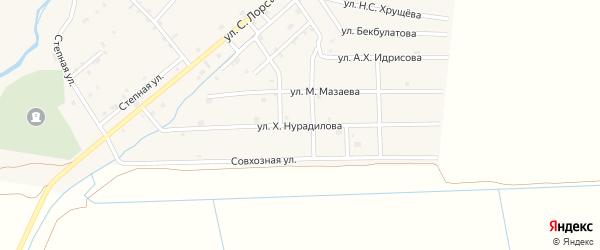 Улица Х.Нурадилова на карте села Шаами-Юрт с номерами домов