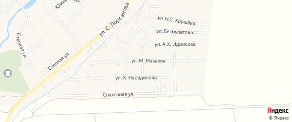 Улица М.Мазаева на карте села Шаами-Юрт с номерами домов