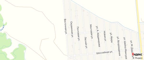 Окраинная улица на карте села Закан-Юрт с номерами домов
