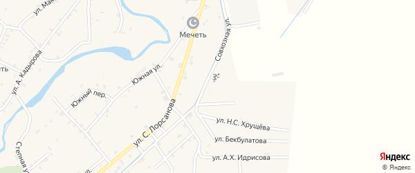 Совхозная улица на карте села Шаами-Юрт с номерами домов
