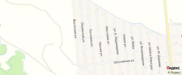 Почтовая улица на карте села Закан-Юрт с номерами домов