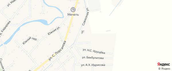 Светлая улица на карте села Шаами-Юрт с номерами домов