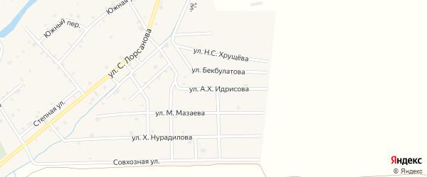 Улица А-Х.Идрисова на карте села Шаами-Юрт с номерами домов