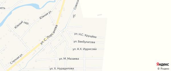 Улица Н.Хрущева на карте села Шаами-Юрт с номерами домов