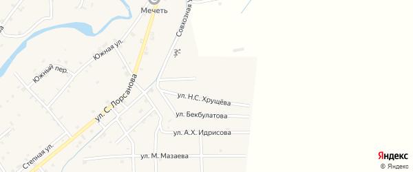 Улица Х.Ошаева на карте села Шаами-Юрт с номерами домов