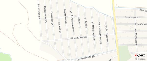 Улица А.Айдамирова на карте села Закан-Юрт с номерами домов
