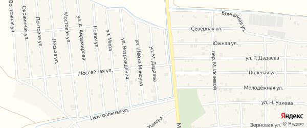 Улица М.Дадаева на карте села Закан-Юрт с номерами домов