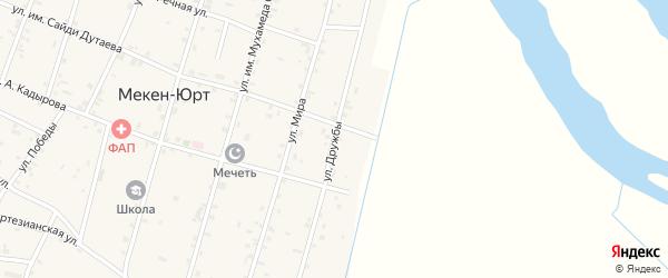 Улица Дружбы на карте Братского села с номерами домов