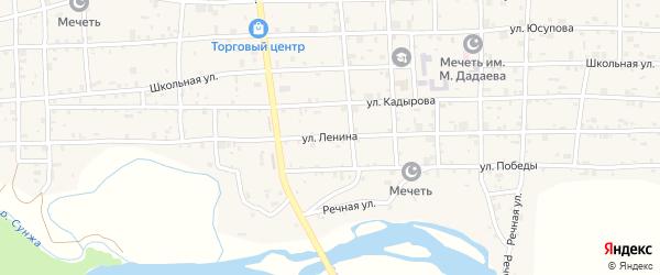 Улица Ленина на карте села Закан-Юрт с номерами домов