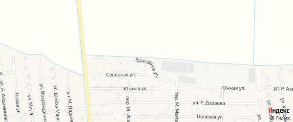 Бригадная улица на карте села Закан-Юрт с номерами домов