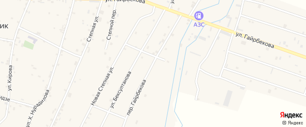Переулок Гайрбекова на карте села Валерика с номерами домов