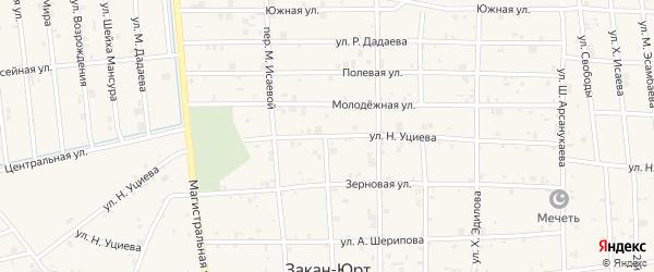 Улица Н.Уциева на карте села Закан-Юрт с номерами домов