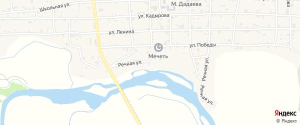 Речная улица на карте села Закан-Юрт с номерами домов