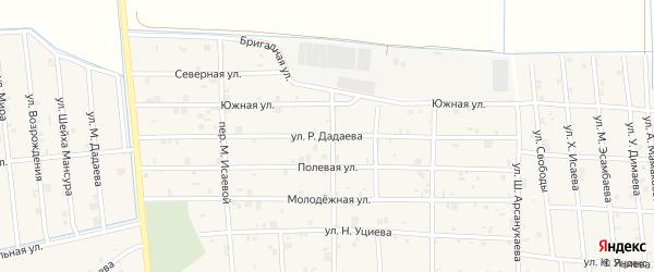 Улица Р.Дадаева на карте села Закан-Юрт с номерами домов