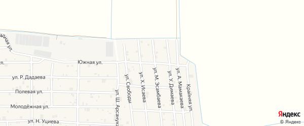 Улица Р.Ахматовой на карте Грозного с номерами домов