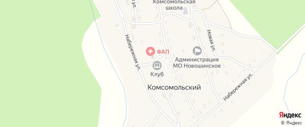 Пролетарская улица на карте Комсомольского поселка с номерами домов