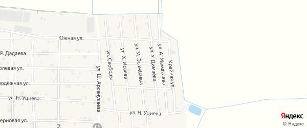 Улица Умара Димаева на карте села Закан-Юрт с номерами домов