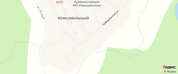 Набережная улица на карте Комсомольского поселка с номерами домов