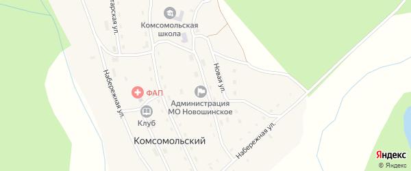 Лесная улица на карте Комсомольского поселка с номерами домов