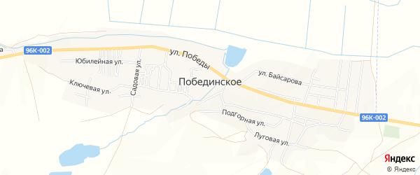 Карта Побединского села в Чечне с улицами и номерами домов