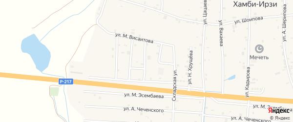 Переулок 3-й Висаитова на карте села Хамби-Ирзи с номерами домов