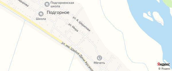 Улица Хумаида Мустапаева на карте Подгорного села с номерами домов