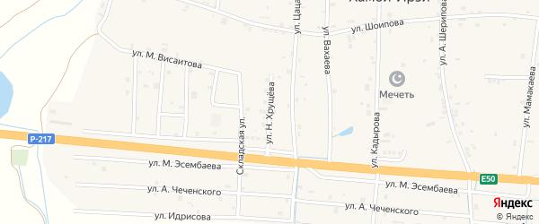 Улица Н.Хрущева на карте Грозного с номерами домов