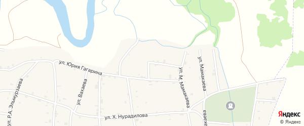 Переулок Ю.Гагарина на карте села Хамби-Ирзи с номерами домов