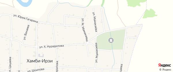 Переулок Х.Нурадилова на карте Грозного с номерами домов