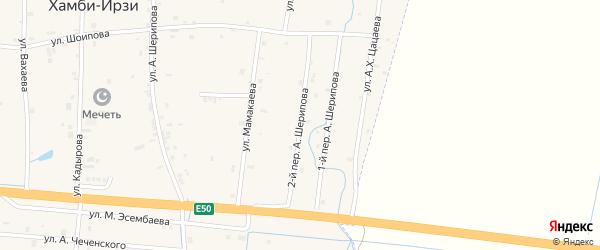 Мельничная 2-й переулок на карте Грозного с номерами домов