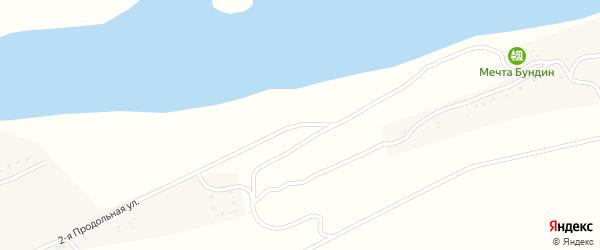 2-ая Продольная улица на карте хутора Бундина с номерами домов