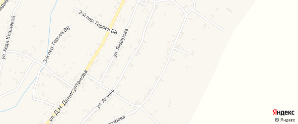 Улица Д.Н.Денисултанова на карте села Рошни-Чу с номерами домов