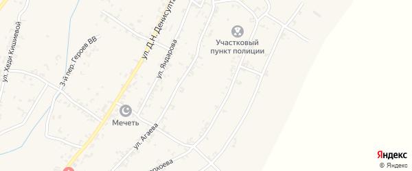 Улица А.Агаева на карте села Рошни-Чу с номерами домов