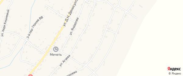 Х.Нурадилова 2-й переулок на карте села Рошни-Чу с номерами домов