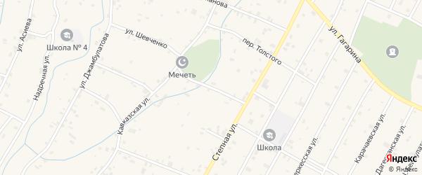 Кавказский переулок на карте села Гехи с номерами домов