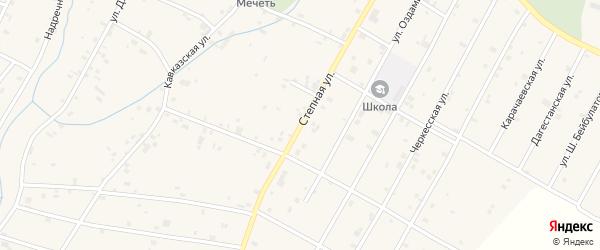 Степная улица на карте села Гехи с номерами домов