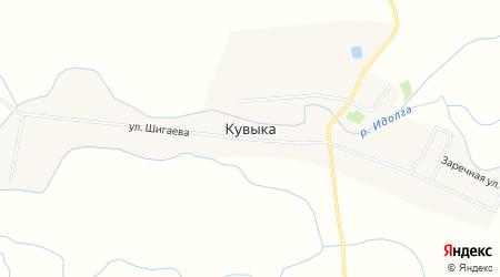 Карта села Кувыка в Саратовской области