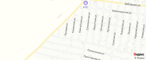 Луговая улица на карте Урус-мартана с номерами домов