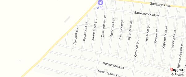 Казанская улица на карте Урус-мартана с номерами домов
