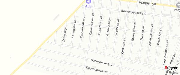 Сахалинская улица на карте Урус-мартана с номерами домов