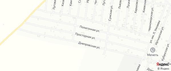 Просторная улица на карте Урус-мартана с номерами домов