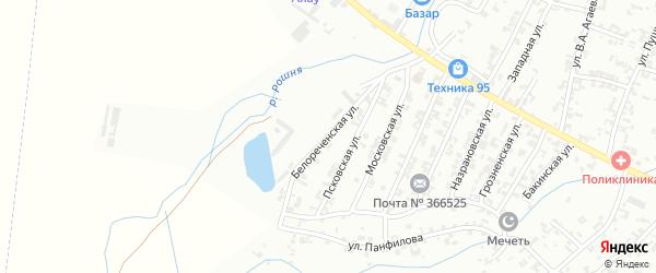 Белореченская улица на карте Урус-мартана с номерами домов