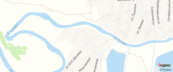 Улица Дачаева на карте села Алхан-Кала с номерами домов