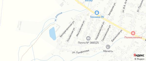 Псковская улица на карте Урус-мартана с номерами домов